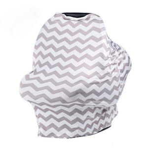 Multi-Use Nursing Scarf (Striped) & Baby Seat Cover