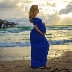 Short Sleeve Maxi Maternity Gown