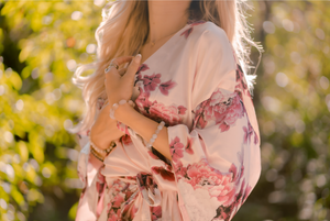 Blossoming - Luxurious Satin Robe
