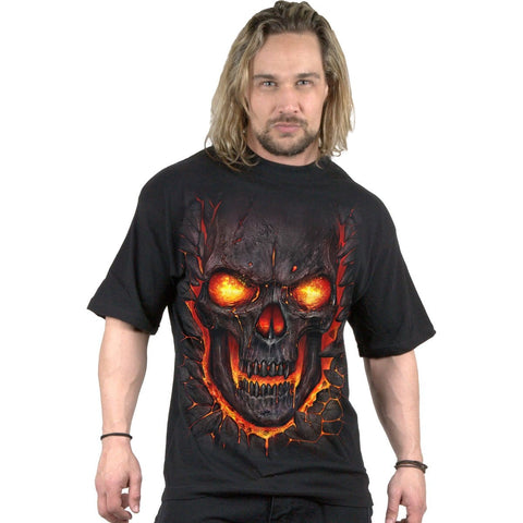 Image of SKULL LAVA - T-Shirt Black - Spiral USA