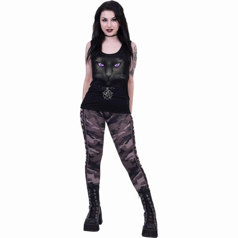 BLACK CAT - Razor Back Top Black - Spiral USA