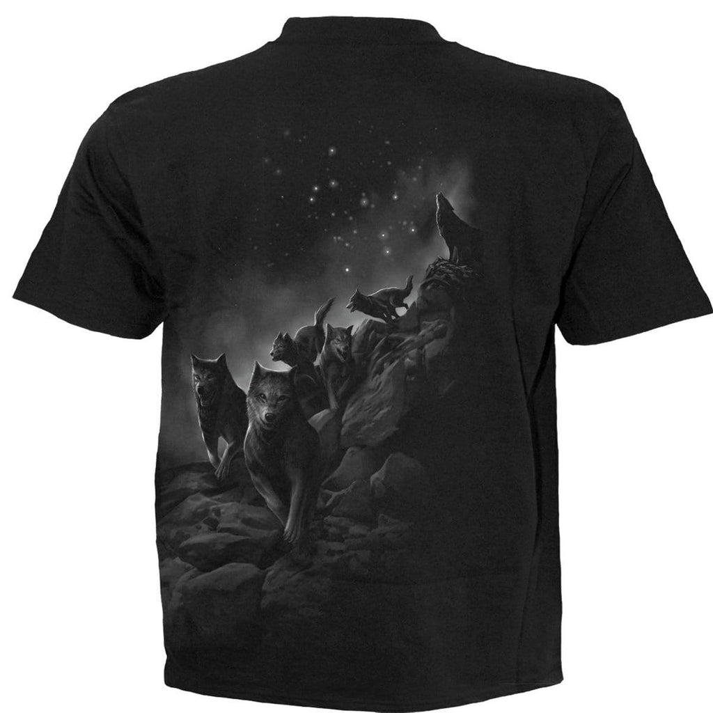 WOLF PACK WRAP - T-Shirt Black