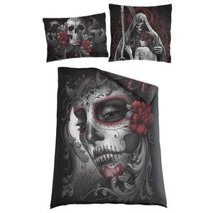 SKULL ROSES - Single Duvet Cover + UK And EU Pillow case