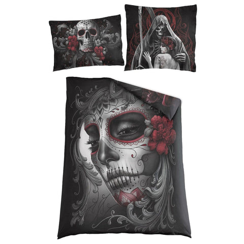 Image of SKULL ROSES - Single Duvet Cover + UK And EU Pillow case