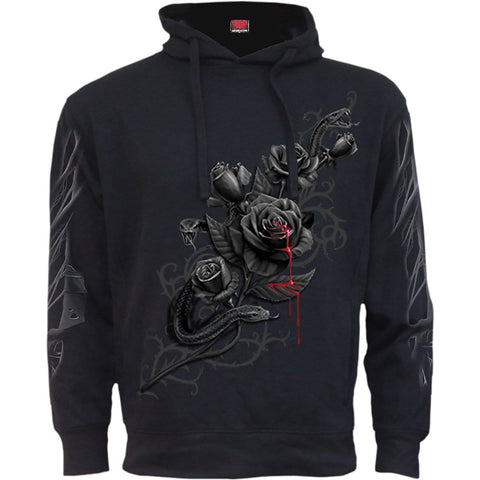 Image of FATAL ATTRACTION - Side Pocket Stitched Hoody Black - Spiral USA