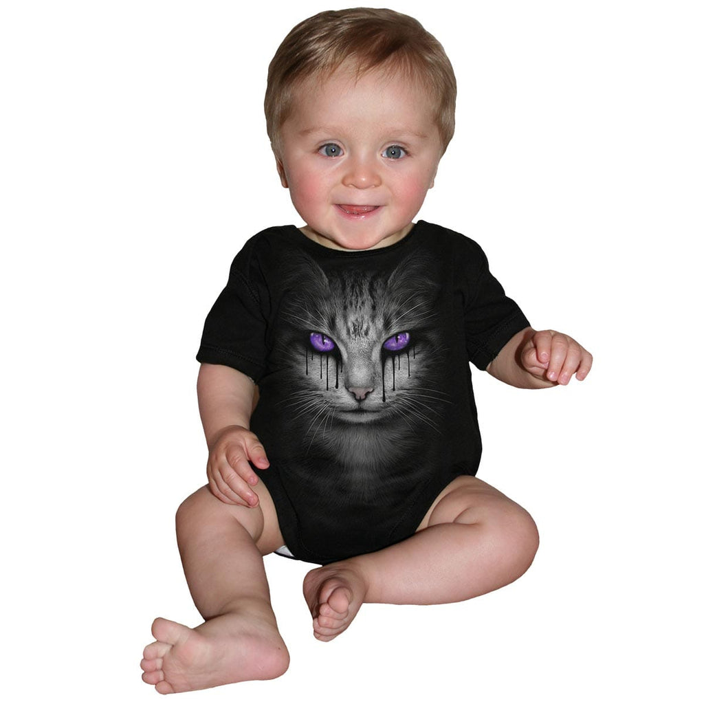 CAT'S TEARS - Baby Sleepsuit Black - Spiral USA