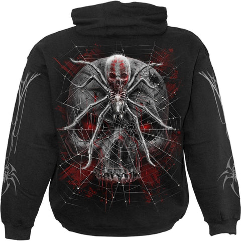 Image of SPIDER SKULL - Hoody Black - Spiral USA
