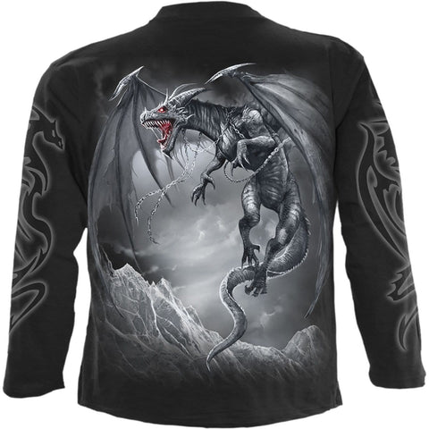 Image of DRAGON'S CRY - Longsleeve T-Shirt Black - Spiral USA