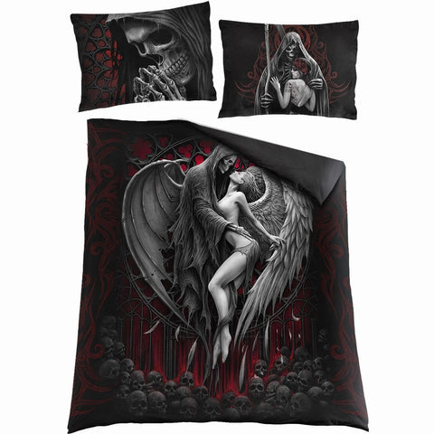 Image of DEAD KISS - Double Duvet Cover + UK And EU Pillow case - Spiral USA