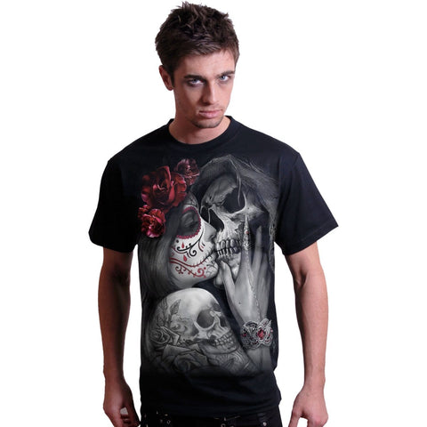 Image of DEAD KISS - T-Shirt Black - Spiral USA