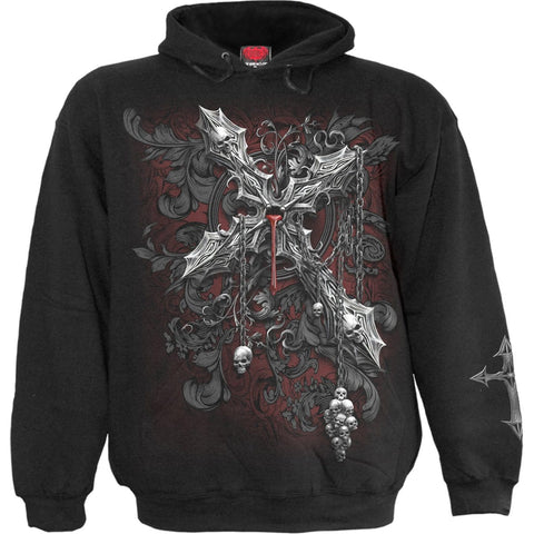 Image of CROSS OF DARKNESS - Hoody Black - Spiral USA