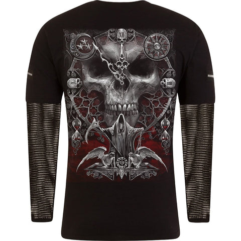 Image of SANDS OF DEATH - Mesh Sleeve Zip Shoulder Long Sleeve Mens - Spiral USA