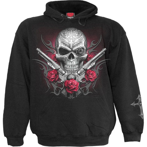 Image of DEATH PISTOL - Hoody Black - Spiral USA