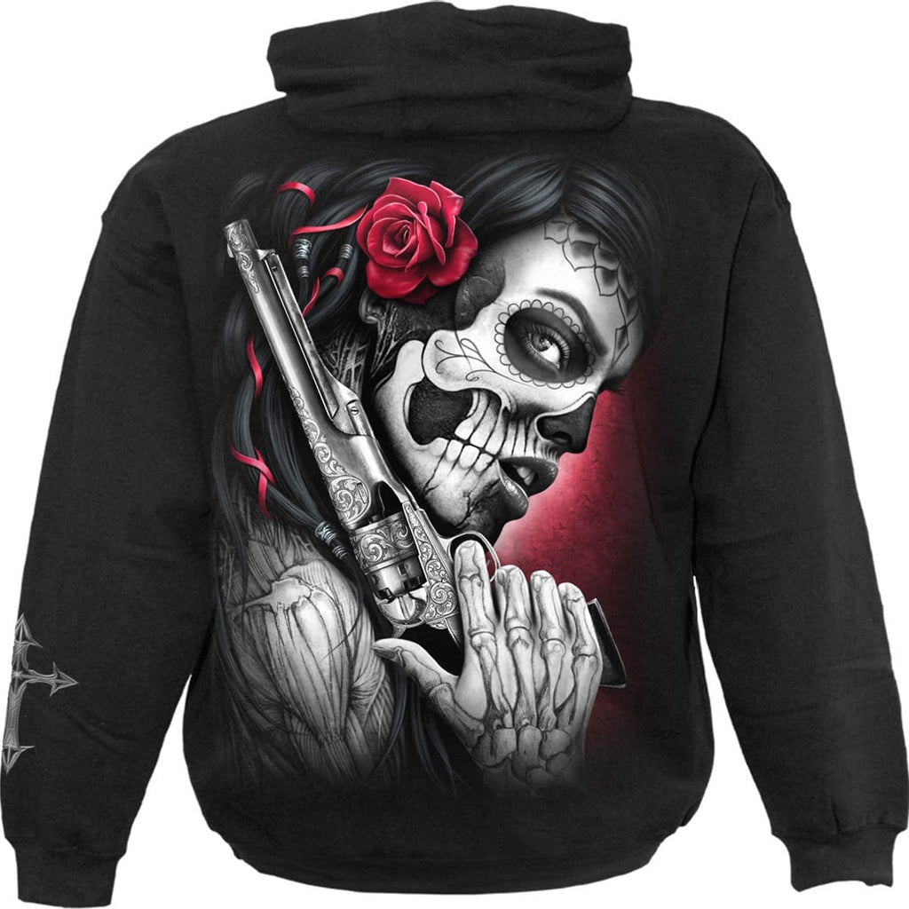 DEATH PISTOL - Hoody Black - Spiral USA