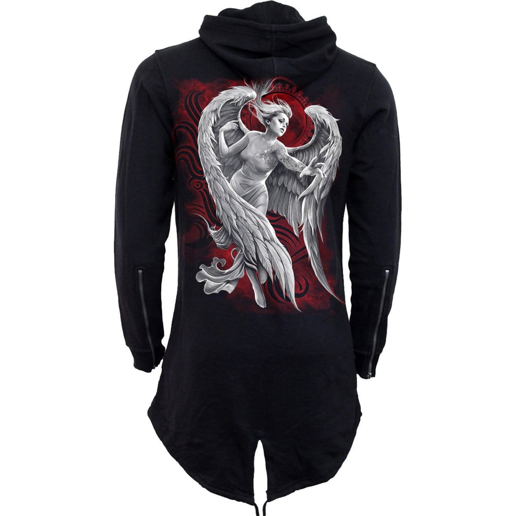 ANGEL DESPAIR - Ladies Fish Tail Full Zip Hoody - Zip Sleeve - Spiral USA