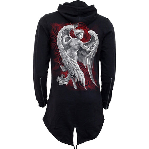 Image of ANGEL DESPAIR - Ladies Fish Tail Full Zip Hoody - Zip Sleeve - Spiral USA