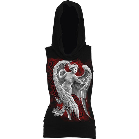 ANGEL DESPAIR - Sleeveless Gothic Hood Black - Spiral USA
