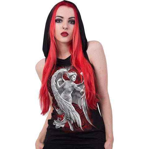 Image of ANGEL DESPAIR - Sleeveless Gothic Hood Black - Spiral USA