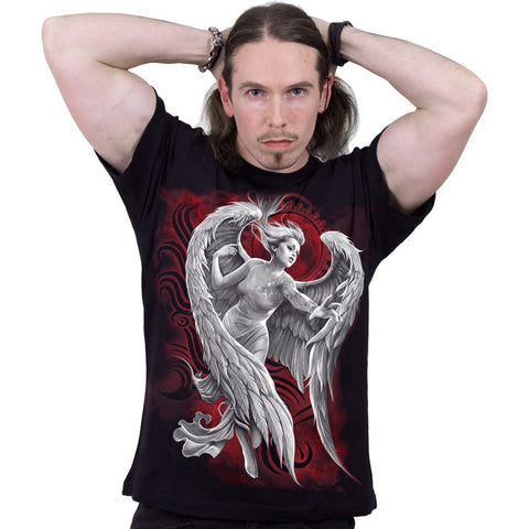 Image of ANGEL DESPAIR - T-Shirt Black - Spiral USA