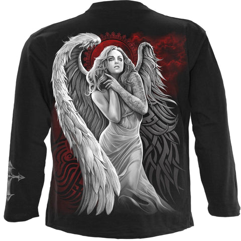 Image of ANGEL DESPAIR - Longsleeve T-Shirt Black - Spiral USA