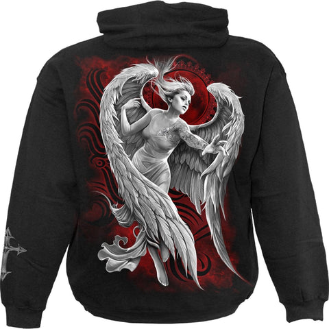 Image of ANGEL DESPAIR - Hoody Black - Spiral USA