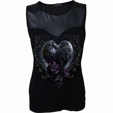 RAVEN HEART - Wet Look Top Black - Spiral USA