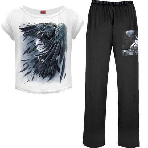 Image of RAVEN HEART - 4pc Gothic Pyjama Set - Spiral USA