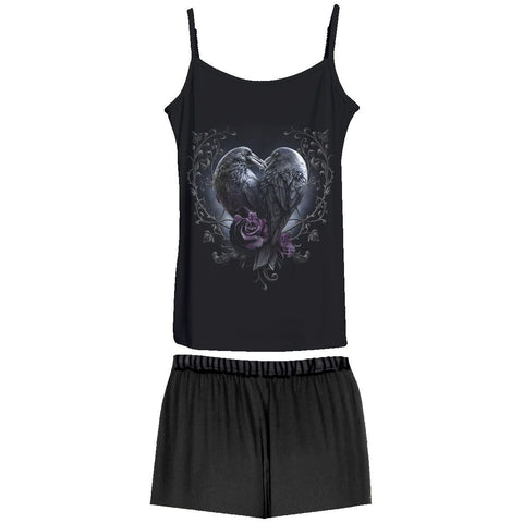 RAVEN HEART - 4pc Gothic Pyjama Set - Spiral USA