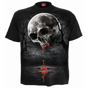 DEATH MOON - Front Print T-Shirt Black - Spiral USA
