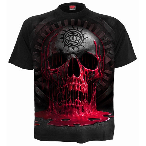 Image of BLEEDING SOULS - T-Shirt Black - Spiral USA