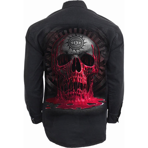 BLEEDING SOULS - Longsleeve Stone Washed Worker Black - Spiral USA