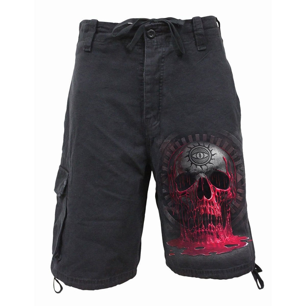 BLEEDING SOULS - Vintage Cargo Shorts Black - Spiral USA