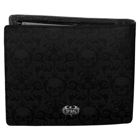SKULL SCROLL - BiFold Wallet with RFID Blocking and Gift Box - Spiral USA