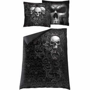 SKULL SCROLL - Single Duvet Cover + UK And EU Pillow case - Spiral USA