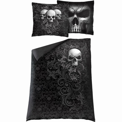 Image of SKULL SCROLL - Single Duvet Cover + UK And EU Pillow case - Spiral USA