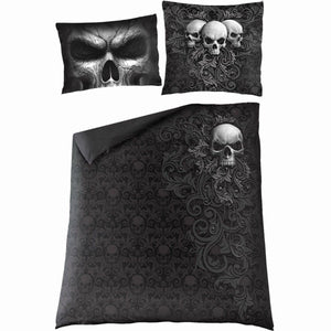 SKULL SCROLL - Double Duvet Cover + UK And EU Pillow case - Spiral USA