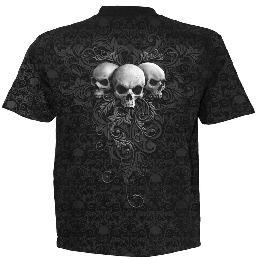 SKULL SCROLL - Scroll Impression T-Shirt - Spiral USA