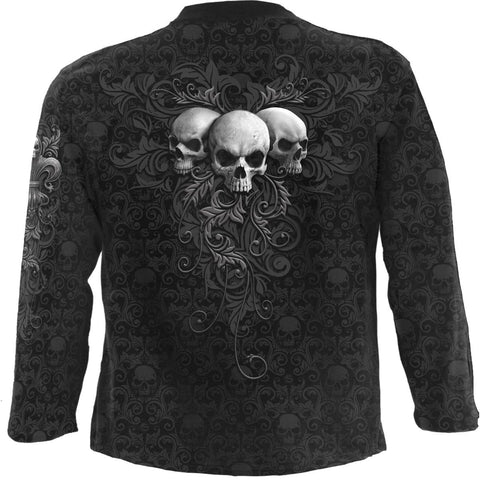 Image of SKULL SCROLL - Scroll Impression Longsleeve T-Shirt - Spiral USA