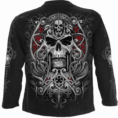 Image of REAPER'S DOOR - Longsleeve T-Shirt Black - Spiral USA