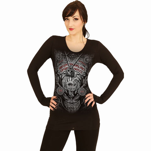 SPIRIT BOARD - Baggy Top Black - Spiral USA