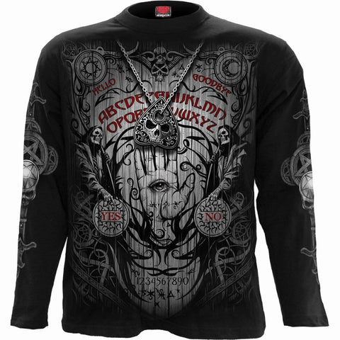 Image of SPIRIT BOARD - Longsleeve T-Shirt Black - Spiral USA