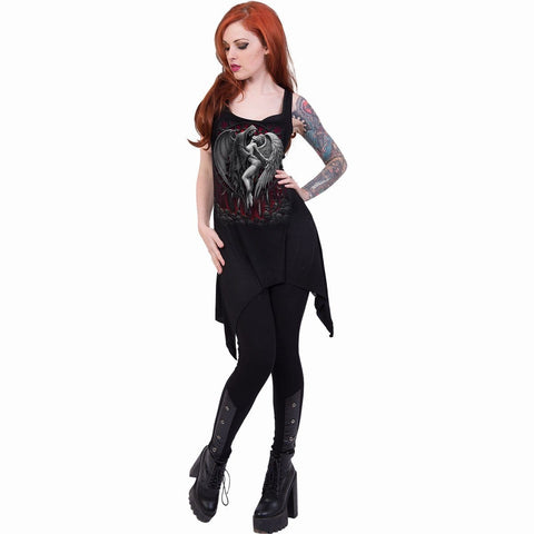 Image of FORBIDDEN - Goth Bottom Camisole Dress Black - Spiral USA