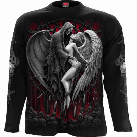 Image of FORBIDDEN - Longsleeve T-Shirt Black - Spiral USA