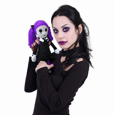 Image of VIOLA - THE GOTH RAG DOLL - Collectable Soft Plush Doll - Spiral USA