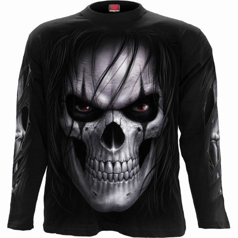 Image of NIGHT STALKER - Longsleeve T-Shirt Black - Spiral USA