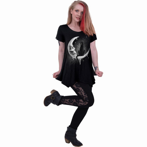 Image of GOTHIC MOON - Smock - Tunic Casual Top - Spiral USA
