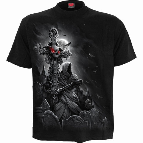 Image of GRAVE WALKER - T-Shirt Black - Spiral USA