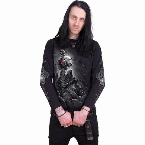 GRAVE WALKER - Longsleeve T-Shirt Black - Spiral USA