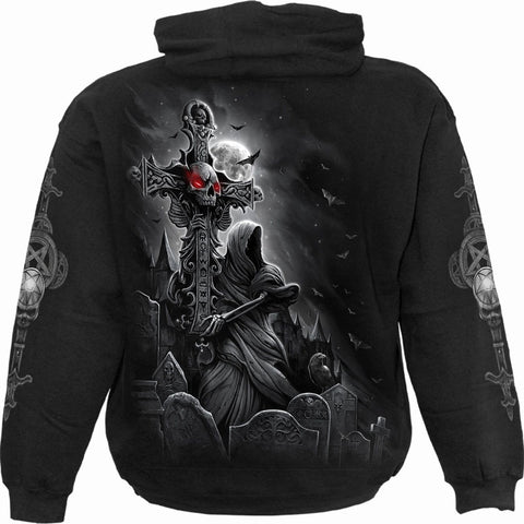 GRAVE WALKER - Hoody Black - Spiral USA