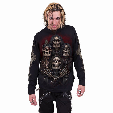FACES OF GOTH - Longsleeve T-Shirt Black - Spiral USA